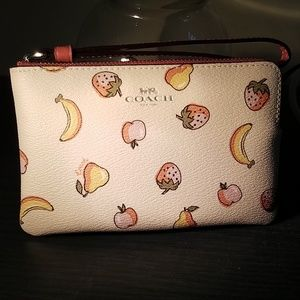 Coach Limited Edition Wristlet Mixed Fruit Print